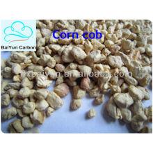 80-120 сетки зерна кукурузного початка на поверхности металла полируя