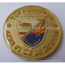 3D Soft Enamel Gold Plating & Epoxy Af Coin