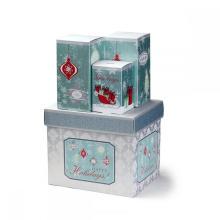 Caixa da dobra do cartão de papel do presente do Natal da impressão de CMYK