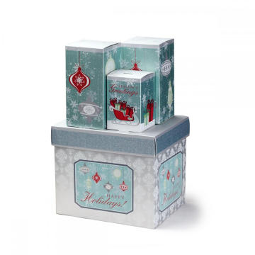 CMYK Печать Рождественский подарок бумажная карточка Tuck Box
