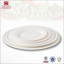 Chine ménager vaisselle en céramique restaurant porcelaine olive ovale plat