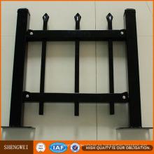 2.4 Longitud 1.8m Altura Negro Valla de acero galvanizado