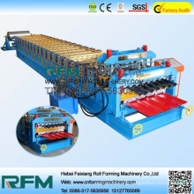 FX double decker layer roofing tiles roll making machine production line