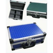 funktionelle Tool-Box, kleine Aluminium-Tool-Box, bunte Werkzeugkiste