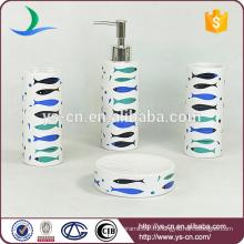 Ensemble de salle de bain en céramique à thème de mer, accessoires de décoration de maison Ensemble de bain