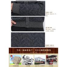 Yak Wool/Cashmere V Neck Cardigan Long Sleeve Sweater/Clothing/Garment/Knitwear