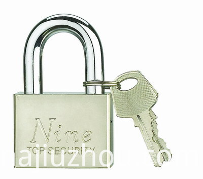 Square Pins Iron Padlock