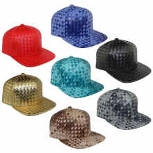Bonnets de baseball en cuir tissé Multicolor Cross Stripe Fashion Hats