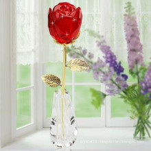 Romantic Red Crystal Rose Craft Home Decoration