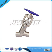 Forjado de aço Y-pattern Bonnetless Globe valves