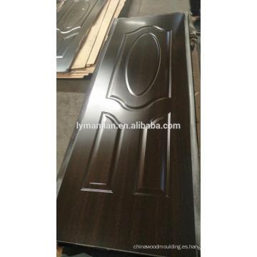 Casa interior decotación acento madera puerta piel