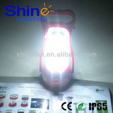 Alta eficiência 1 anos de garantia lanterna LED acampamento lanterna solar e carregador de telefone