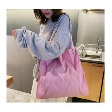 Stock wholesale newest single shoulder canvas bag Ruffled Clutch woman handbag