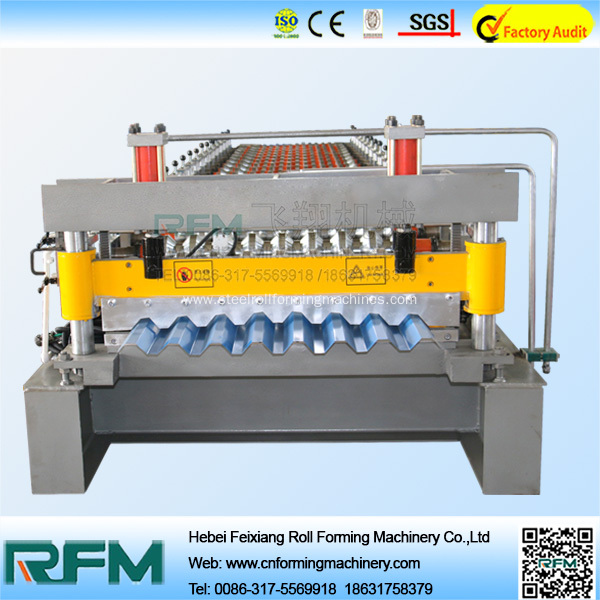 Corrugated building roof panel roll forming machine