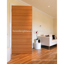 Natural Veneer Clear Lacquer Flush Interior Door Solid Wood