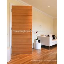 Laca clara natural do folheado - madeira maciça da porta interior nivelada
