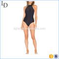 Nylon avec lycra mélange beau noir femme bikinis monokini maillot de bain