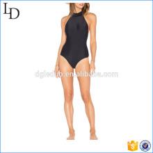 Nylon mit Lycra Mischung aus schönen schwarzen Bikinis Monokini Badeanzug
