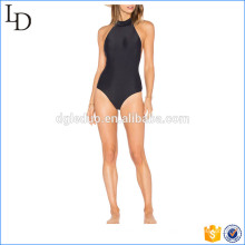 Nylon with lycra blend beautiful black women bikinis monokini swimsuit