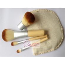 Belleza cosméticos 4PCS conjunto de pincel de maquillaje de bambú