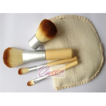 Beauty Cosmetic 4PCS Set de brosse à maquillage en bambou