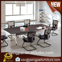 High quality custom wooden walnut small modern office meeting table
