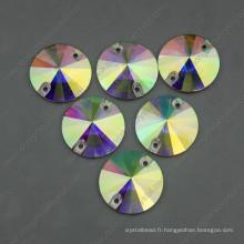 Ab Color Round Coudre Sur Pierres Perles à Deux Trous