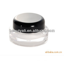 5g 15g 20g 30g 50g 100g 200g Round Cosmetic Black Cap Acrylic Cosmetic Jar Wholesale