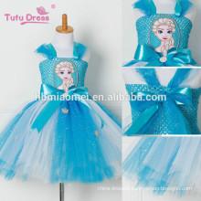 Tulle Tutu Dress Princess Dress Snow Queen Halloween Party Vestidos Cosplay Costume Girl Dress Summer Girls Clothes