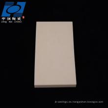 Plato cerámico de alúmina resistente al desgaste