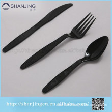 Disposable,Eco-Friendly,Stocked Feature and FDA Certification Plastic black cutlery