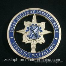 Moeda militar barata feita sob encomenda do desafio da promoção
