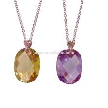 Мода Простой Длинные Красочные Граненый Циркон Цепи Ожерелье, Каждый День Ожерелье