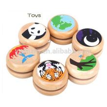 jouet en bois personnalisé yoyo jouet couleur unie yo-yo