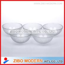 Glasschale mit Haut Textureffekt