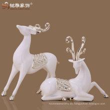 2016 nueva escultura de los ciervos de los pares del arte de la resina del diseño para la decoración de la boda