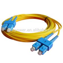 SC cable de conexión, sc a sc apc / pc / upc fibra óptica cable de parche con 2,0 mm 3,0 mm