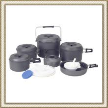 Pique-nique ou antiadhésif ou Camping aluminium Cook Set (CL2C-DT2315-10)