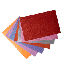 Wholesale educational toys factory price thick and soft assorted color self adhesive glitter EVA foam