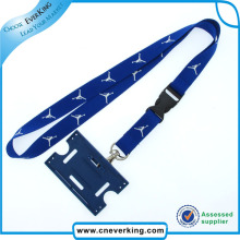 2015 New Design Polyester Lanyard with Card Holder