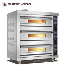 Venta caliente comercial mejor precio horno de cocina de acero inoxidable pan horno de dos pisos