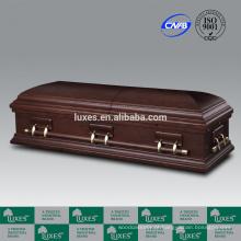 LUXES alta qualidade caixão de madeira folheado noz caixões