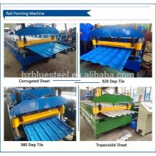 Máquina de fabricação de folhas de telhado de ferro corrugado, máquina de telhado metálico de costura