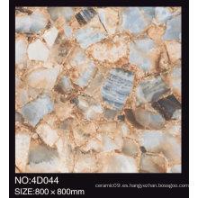 Piso de cerámica de inyección de tinta 3D Vitrified 80X80 Cm Rustic Tiles