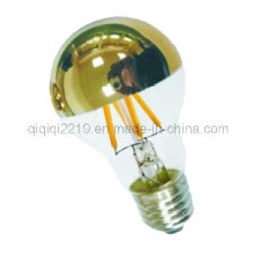 Gold Mirror 60mm Clear Dimmable LED Filament Bulb