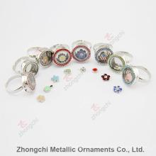 Legierung runder Locket Ring für Geschenk