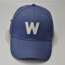 Plain Leather Label Logo Baseball Caps