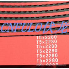 Enduit de courroie de distribution, courroie de distribution en caoutchouc rouge, T5 * 2280