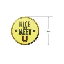 Kundengebundenes Gold überzogenes Zink-Legierungs-Aufkleber-Metallabzeichen