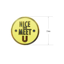 Customized Gold Plated Zinc Alloy Label Metal Badge